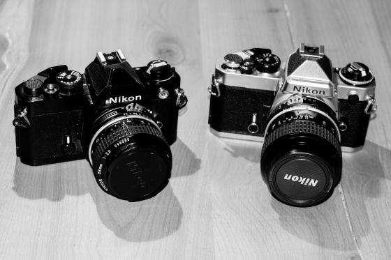 Nikon FE y Nikon FM